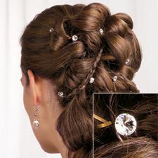 rhinestone hair